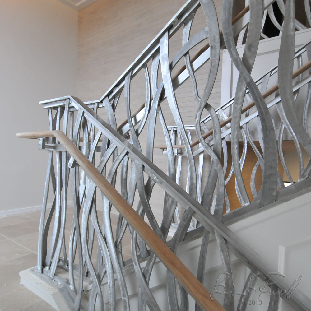 Fedex Family House Grand Stair Detail Of Forged Balusters With